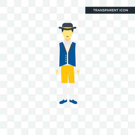Sweden man vector icon isolated on transparent background Illustration