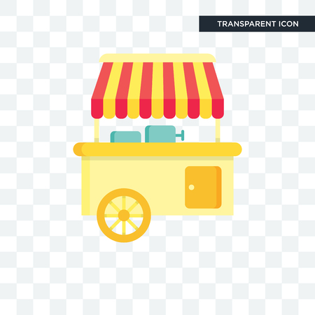 Food stand vector icon isolated on transparent background