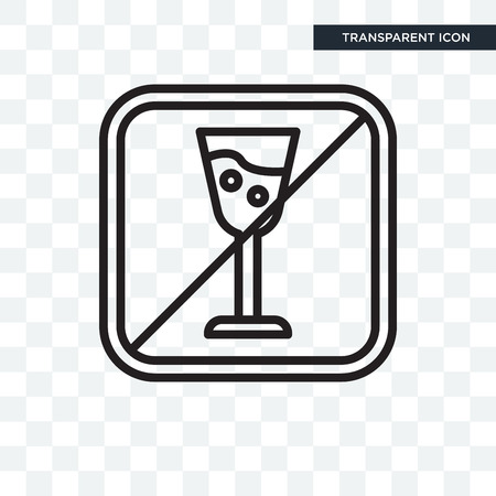 No alcohol icon isolated on transparent background