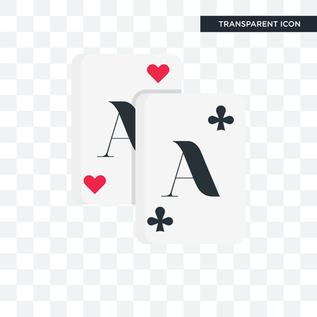 Playing cards vector icon isolated on transparent background Vectores