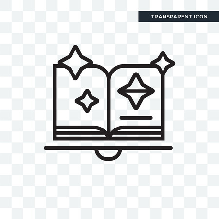 Spellbook vector icon isolated on transparent background