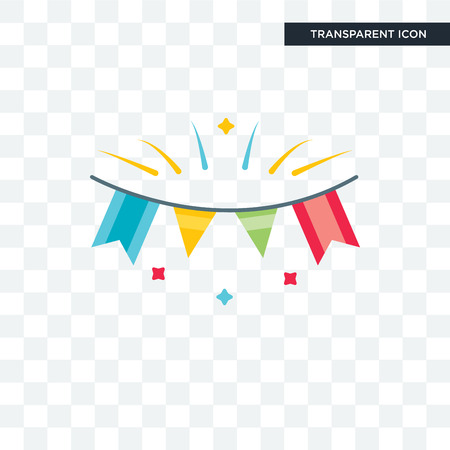Garlands illustration isolated on transparent background