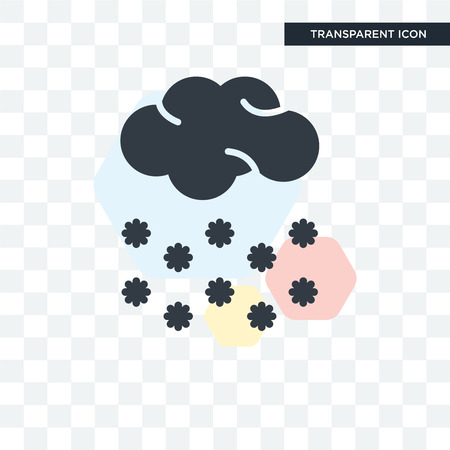 Snow vector icon isolated on transparent background