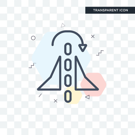 Mirror vector icon isolated on transparent background