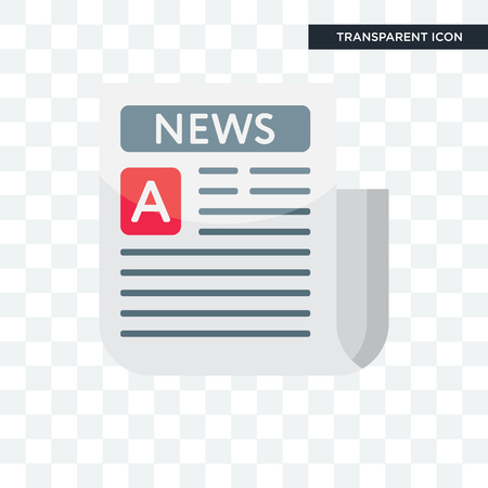 Newspaper vector icon isolated on transparent background