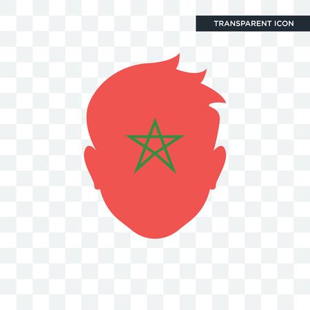 Icône de vecteur de Maroc isolé sur fond transparent
