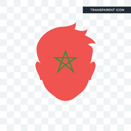 Morocco vector icon isolated on transparent background