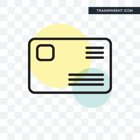 Stamp vector icon isolated on transparent background