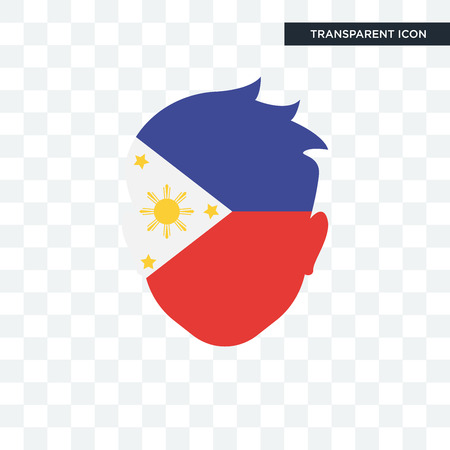 Philippines vector icon isolated on transparent background, Philippines logo concept Illustration