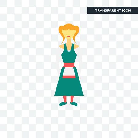 German women illustration icon isolated on white