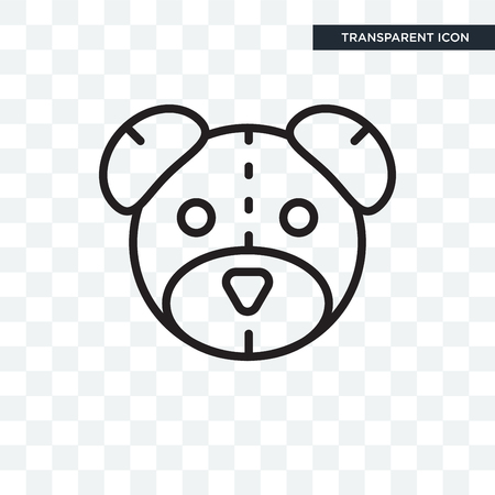 Teddy bear icon isolated on transparent background