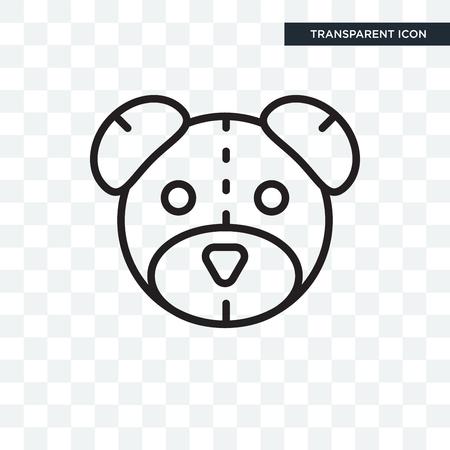 Teddybeer pictogram geïsoleerd op transparante achtergrond