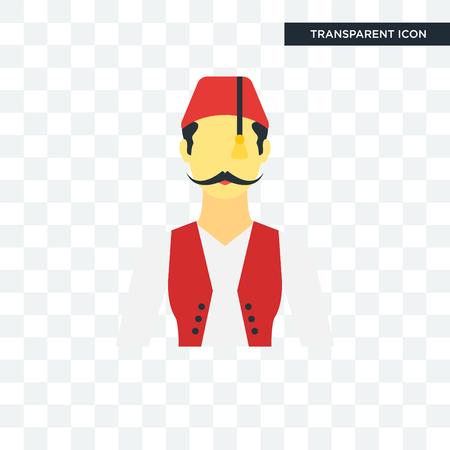 Turkish man illustration icon isolated on white Illustration
