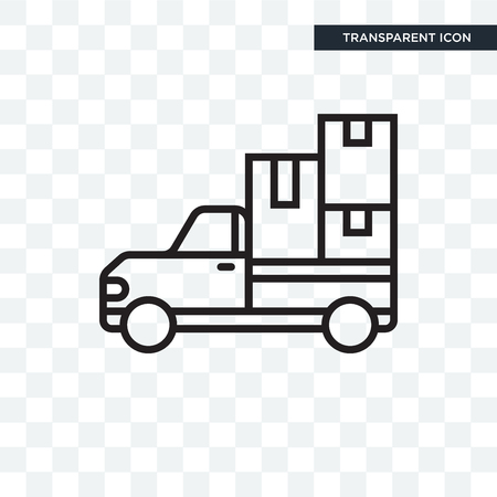Moving truck  icon isolated on transparent background