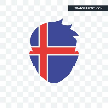 Iceland   icon isolated on transparent background