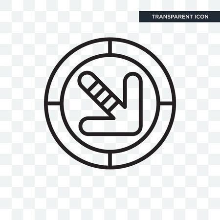 Traffic arrow illustration icon isolated on transparent background