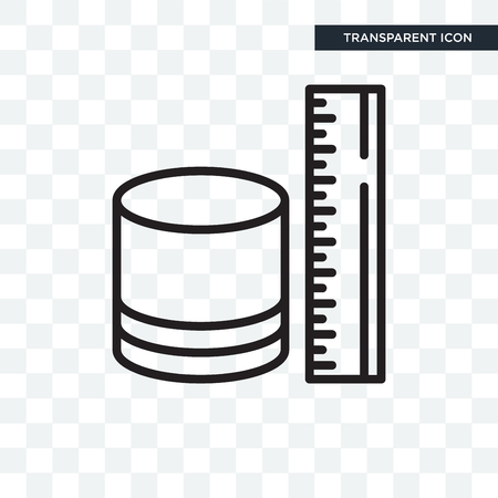 Measure illustration icon isolated on transparent background