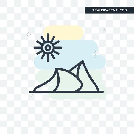 Dune illustration icon isolated on transparent background