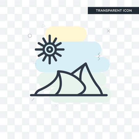 Dune illustration icon isolated on transparent background