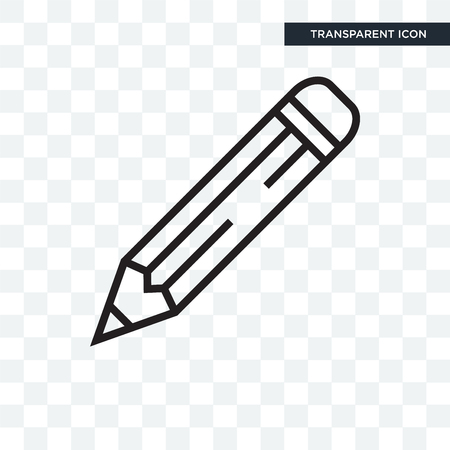 Pencil icon isolated on transparent background