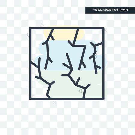 Crack icon isolated on transparent background