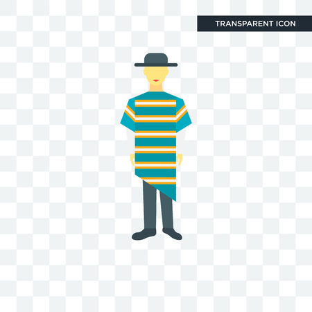 Chilean man icon illustration isolated on transparent background Иллюстрация