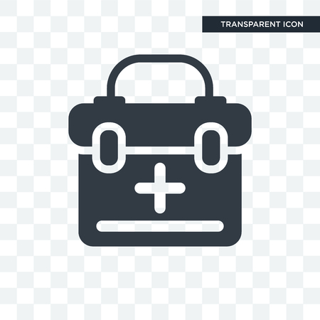 Medical kit icon isolated on transparent background
