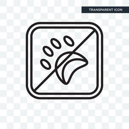 No pets signage illustration icon isolated on transparent background Banque d'images - 108579186