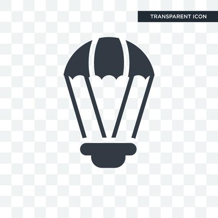 Parachute icon illustration isolated on transparent background