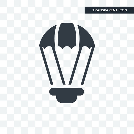 Parachute icon illustration isolated on transparent background