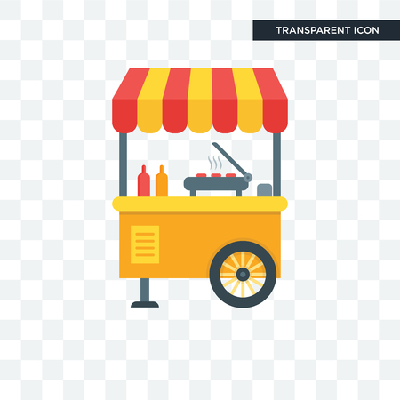 Street food  concept icon illustration isolated on transparent background