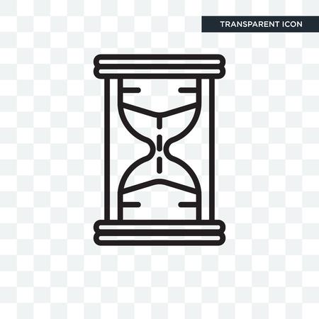 Icône d'illustration de sablier isolé sur fond transparent