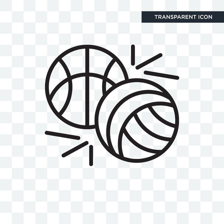 Sports vector icon isolated on transparent background, Sports logo concept