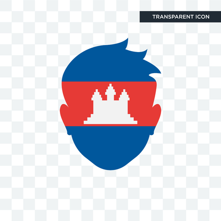 Cambodia  illustration icon isolated on transparent background Illusztráció