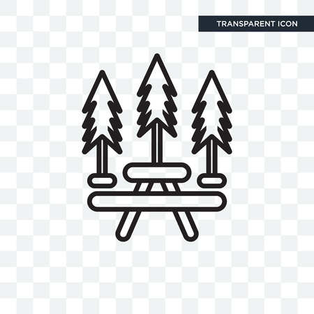 Picnic vector icon isolated on transparent background, Picnic concept Stock Illustratie