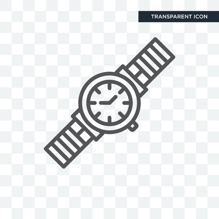 Classic Wristwatch vector icon isolated on transparent background, Classic Wristwatch logo concept Illustration