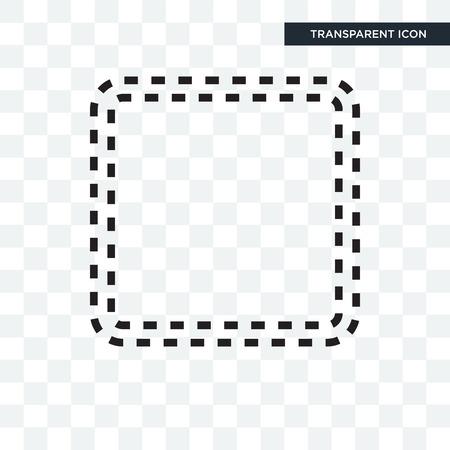Square shape illustration icon isolated on transparent background