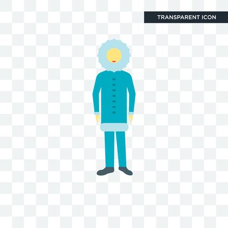 Eskimo illustration icon isolated on transparent background