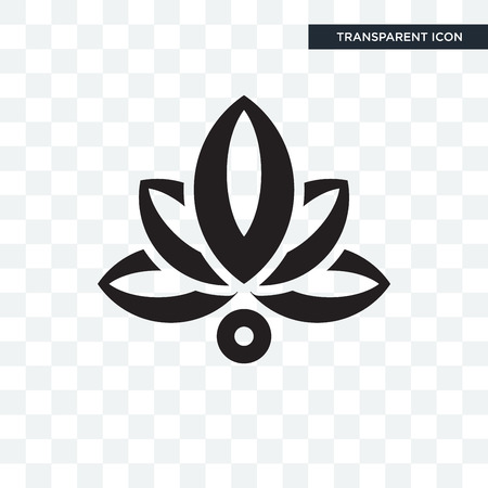 Lotus illustration icon isolated on transparent background