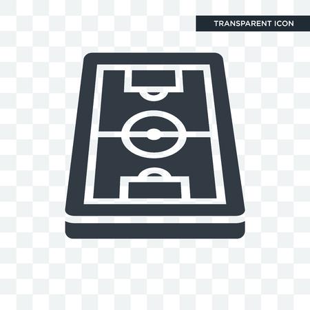 Icono de ilustración de campo de fútbol aislado sobre fondo transparente