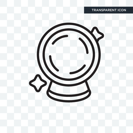 Crystal ball illustration icon isolated on transparent background