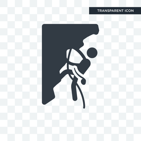 Climbing vector icon isolated on transparent background, Climbing logo concept