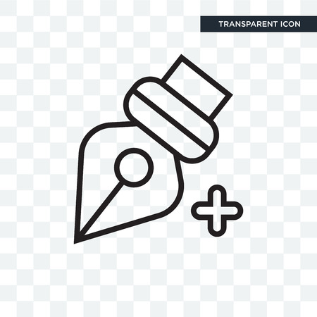 Pen illustration icon isolated on transparent background