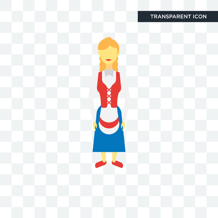 Norwegian women illustration icon isolated on transparent background Фото со стока - 108806491