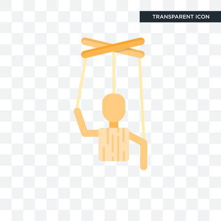 Puppet illustration icon isolated on transparent background