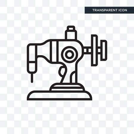 Sewing machine vector icon isolated on transparent background