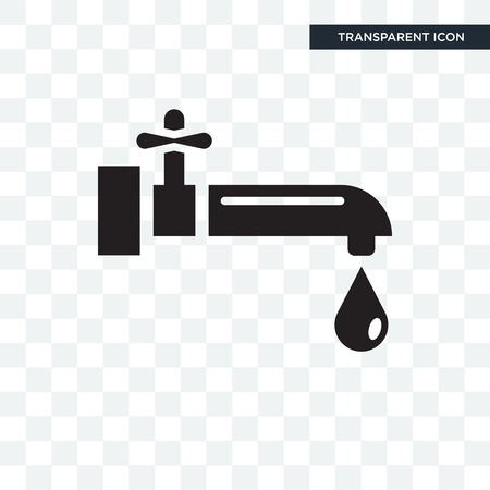 Water tap vector icon isolated on transparent background, Water tap logo concept Logo