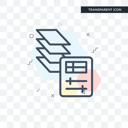 Layer concept illustration icon  isolated on transparent background Illustration
