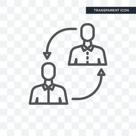 Job Transition concept illustration icon isolated on transparent background