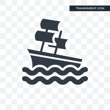 Sailboat illustration icon isolated on transparent background